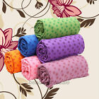 Micro Fiber Non-slip Yoga Mat Towel Soft Skidproof Plum Flower Blanket with Bag