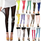 Sexy Lady Candy Colors Mesh Sheer Cropped Tights Pants Bottoms Trousers