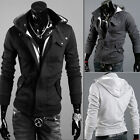 Casual Mens Warm Winter Coat Slim Fit Hooded Sweater Jacket Sweatshirt Cardigan