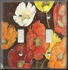 Light Switch Plate Cover - Colorful Poppies - Poppy Flowers - Floral Home Decor
