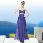Women's Spaghetti Straps Full Length Evening Party Dress Formal Prom Gown 09675