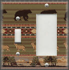 Light Switch Plate Cover - Rustic Cabin Home Decor - Black Bear And Deer
