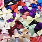 15mm Satin Ribbon Bows 10pk 30pk 50pk or 100pk Choose From 22 Colours Free P&P