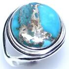 Mojave COPPER Turquoise Ring, 925 Sterling SILVER Rings All Sizes L, 5½ to Y, 12