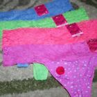 CANDIE'S LACE THONG PANTIES SIZES S - L ~ BRIGHT NEON COLOURS GREEN PINK CORAL