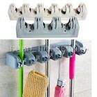 Wall Mounted Mop Brush Broom Organizer Holder Hanger Storage Kitchen Rack Tool