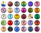 SWAROVSKI ELEMENTS 1122 Rivoli Round Stone Foiled Glue Fix * All Sizes & Colours