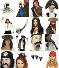 Pirate Accessories Mens Ladies Fancy Dress Wigs Hats Tights Boot Covers ETC