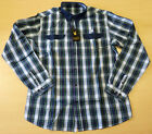 SALE! AERTEX MENS CHECK SHIRT Retro 70s Mod Shirt Vintage Indie Cotton SHANE