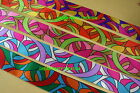 """1 YARD SATIN Ribbon GROOVY RETRO Design 1.5"""" CHOOSE From 5 COLORS"""