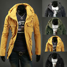 winter new double collar side pockets personalized men's casual luxury jacket