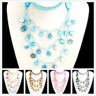 X1123 Multicolour Coloured Natural Shell Venetian Pearl Fashional Necklace