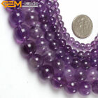 "Natural Gemstone Amethyst Stone Loose Beads For Jewelry Making 15"" Light Purple"