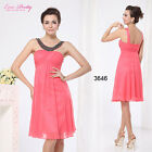 Fashion Pinks Short Girls' Beadings Bridesmaid Cocktail Party Dress Gown 03646