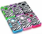 3N1 Zebra Hybrid Silicone Rubber Hard Case For Apple iPhone 4 4S 4GS