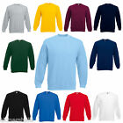 BULK BUYER Fruit of the Loom Set in Sleeve Sweatshirt Jumper S - XXXL 11 Cols