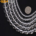 "Natural Gemstone Clear Rock Quartz Beads For Jewelry Making 15"" Jewelry Beads"