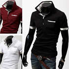 New Mens Fashion Sexy Casual Slim Fit Short Sleeves  Shirts 3 Colors