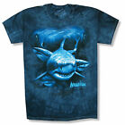 """THE MOUNTAIN """"SHARKS"""" BLUE TIE DYE T-SHIRT NEW OFFICIAL ADULT YOUTH KIDS FISH"""