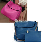 Women's Fashion Retro Pure Color PU Leather Chain Handbag Shoulder Bag Hot Sale