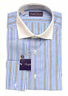 Ralph Lauren Purple Label Striped French Cuff Dress Shirt New $450