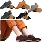 Stylish Men's Suede Leather Purity Casual Lace Up Wear-Resisting Shoes 6 Colors