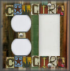 Metal Light Switch Plate Cover Cowgirl Design Rustic Western Cowgirl Home Decor