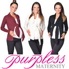 New Lovely Soft Tie Front Style Maternity Cardigan Bolero Shrug 9015