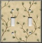 Light Switch Plate Cover - Pine Tree Branches - Rustic Cabin Home Decor