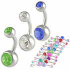 belly button piercing kit bars jewellery navel ring 3pcs more color options 9LBO