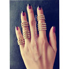 New Punk Urban Gold Silver stack Plain Cute Above Knuckle Ring Band Midi Ring