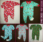 BABY & KIDS X-MAS ONESIES - 6 mth to 5 yrs One-Piece Zip up Christmas ROMPER New