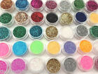 METALLIC GLITTER POTS FINE HIGH QUALITY HUGE RANGE OF COLOURS NAIL ART CRAFT