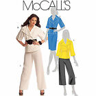 McCall's 5637 Misses' Lined Jacket Skirt Trousers Sewing Pattern Out of Print