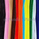 """Chenille Craft Stems Pipe Cleaners 12"""" 30cm 10 25 50 100 200pk - Free Post <br/> Choose from 18 colours inc Brown & Tinsel or Mixed Pack"""