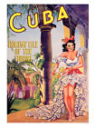 Cuba Holiday Travel Poster Print - Framed And Memo Board Available