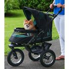 NEW Pet Gear NV NO-ZIP Dog Cat Jogger Stroller w / Weather Cover and Plush Pad