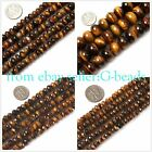 "rondelle  tiger eye stone gemstone loose beads strand 15""jewelery making beads"
