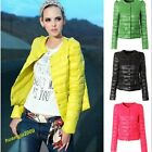 New Warm Women Solid Color Cultivate One's Morality Round Neck Short Jacket Coat