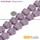 jewelry making 27mm Mulitcolor flower Gemstone  lava rock beads strand 15""