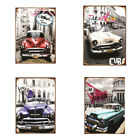 VINTAGE CLASSIC *CARS 20cm x 30cm EMBOSSED TIN SIGN - CHOICE OF 4* NEW DF15093