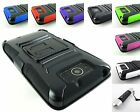 RUGGED ARMORED HYBRID CASE COVER+CLIP HOLSTER FOR MOTOROLA DROID+STYLUS/PEN