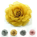 """Handmade"" Fabric Flower Brooch Pin Rose Large 4 1/2 in Choose Color cfa1 p0066"
