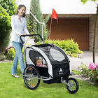 Elite Aosom Double Baby Bike Trailer Stroller Child Bicycle Kids Jogger 3 colors