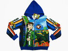 Ben 10 Ultimate Alien Hooded Jacket #1466 Blue Size 4-14 age 2-12