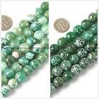 Beautiful10mm 12mm faceted green fire agate jewelry making gemstone beads 15""