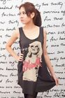 Blondie Debbie Harry Indie Rock WOMEN T-SHIRT DRESS Tank Top Tunic Vest Size M L