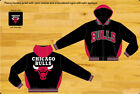 Chicago Bulls NBA Jacket Men's Fleece Reversible Nylon with Removable Hood SALE on eBay