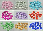 100 Flatback Resin Dotted Round Rhinestone Cabochon Gems 12mm Pick Your Color