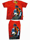 Masked Rider Boy Outfit Set T-Shirt+Shorts #002 Red Size 4-10 age 3-10